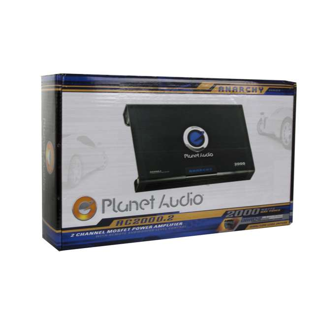AC20002 Planet Audio AC2000.2 2000W 2-Ch Amplifier + Remote  (2 Pack) 7