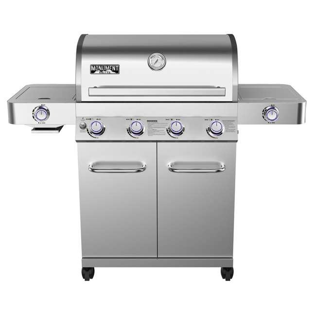 MG-24367-U-B Monument Grills Stainless Steel 4 Burner Propane Gas Grill (Used)