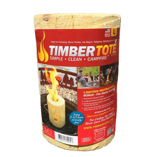 TBT-1002 TimberTote Large 12x8 Inch One Log Campfire Camping Cooking Camp Fire Wood Log 1