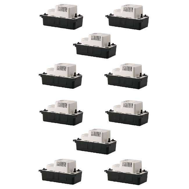 10 x LG-554425 Little Giant 1/30 HP 1/2 ABS Gallon Tank Condensate Removal Pump (10 Pack)