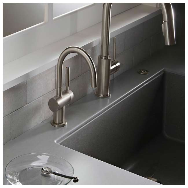 F-HC3300C-OB InSinkErator Indulge Modern Hot/Cold Water Faucet, Chrome (OPEN BOX) 2