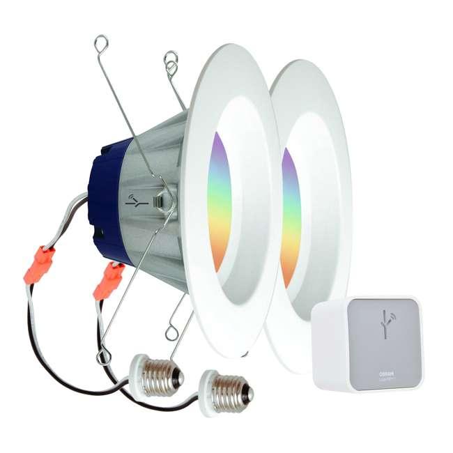 6 x SYL-73810-U-A Sylvania Lightify Smart Home Kit with 2 LED Lights, Gateway (Open Box) (6 Pack)