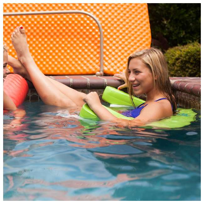 8210028 TRC Recreation Vinyl Covered Floating Aqua Swing Chair Pool/Spa Lounger, Blue 4