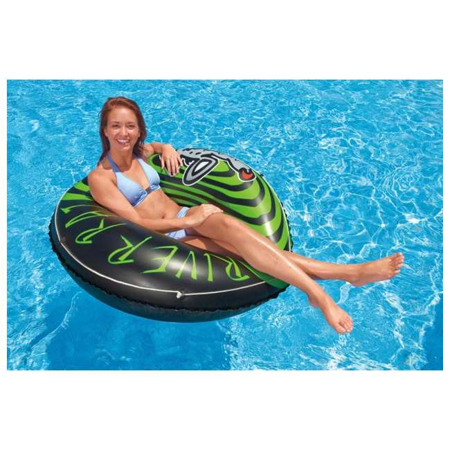 9 x 68209EP INTEX River Rat Inflatable Floating Tube Raft (Open Box) (9 Pack) 4