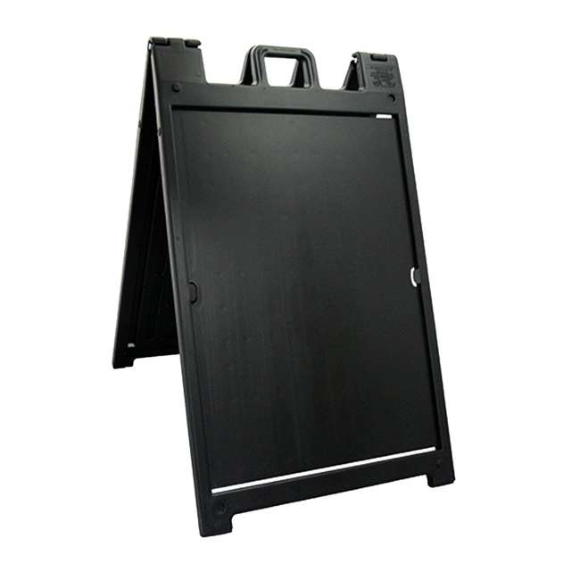 6 x 140NSBK Plasticade Deluxe Signicade Double-Sided Sign Stand, Black (6 Pack) 1