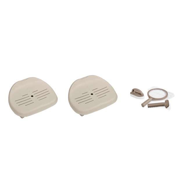 28004E + 2 x 28502E Intex PureSpa Hot Tub Maintenance Kit & Seat (2 Pack)