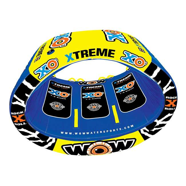 12-1030 Wow Sports 3-Person XO Extreme Towable Rider Tube, Blue 1