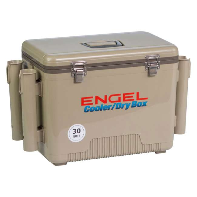 4 x UC30T-RH Engel Coolers 30-Quart Insulated Cooler Drybox with 4 Rod Holders (4 Pack) 2