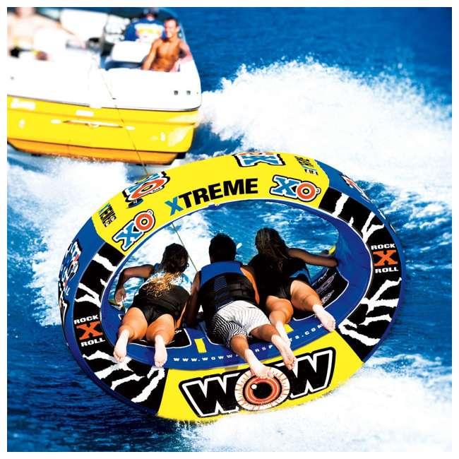 12-1030 Wow Sports 3-Person XO Extreme Towable Rider Tube, Blue 2