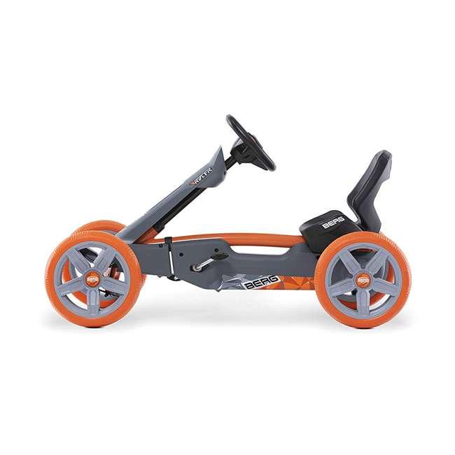 24.60.01.00 BERG Reppy Racer Kids Pedal Go Kart Ride On Toy w/ Axle Steering, Gray & Orange 3