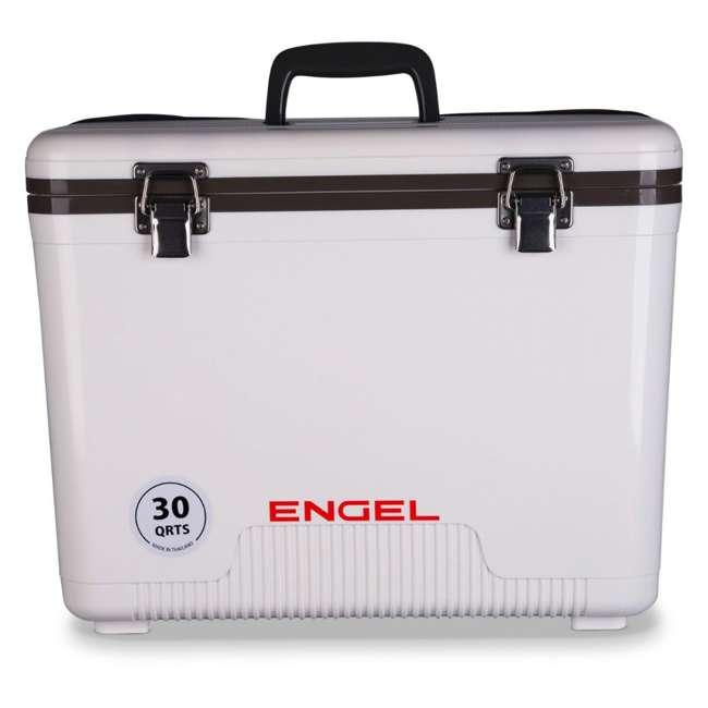 UC30-U-A Engel Coolers 30 Qt Lightweight Insulated Cooler Drybox, White(Open Box)(2 Pack)