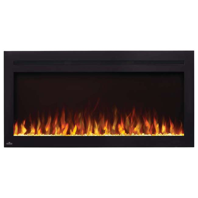 NEFL42HI Napoleon NEFL42HI Purview 42 Inch Linear Electric Wall Mount Fireplace w/ Remote 1