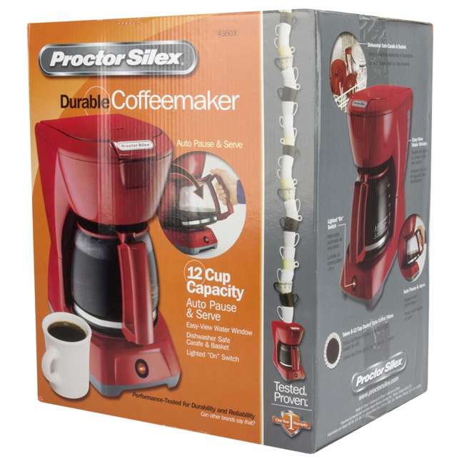 43603 Proctor Silex 43603 12-Cup Coffee Maker | Red 8