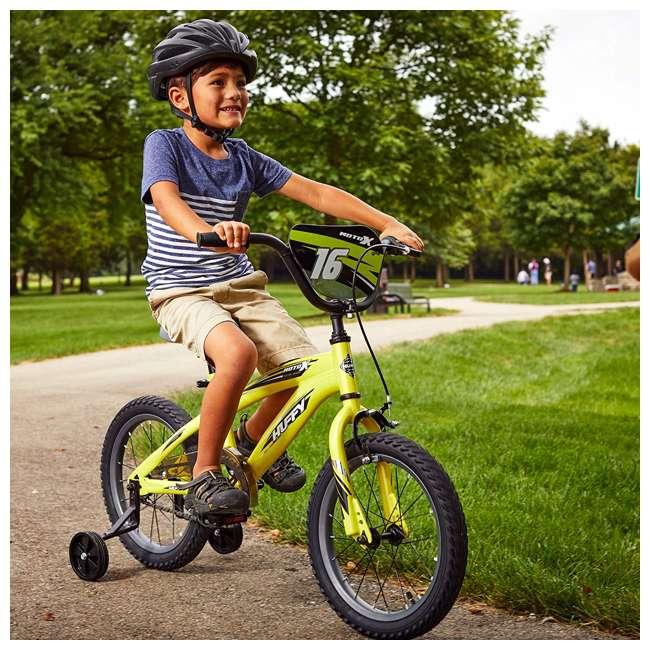 71828 Huffy Moto X 16 Inch Age 4-6 Kids Bike Bicycle with Training Wheels, Yellow 1