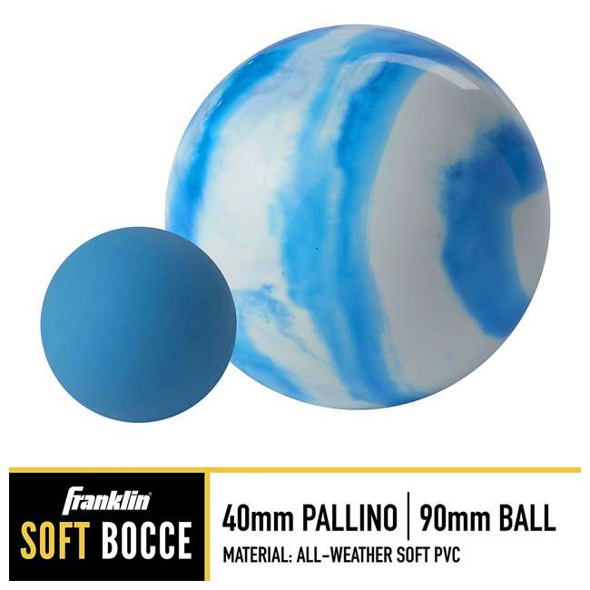 50111 Franklin Family Bocce Ball Set, Swirl 1