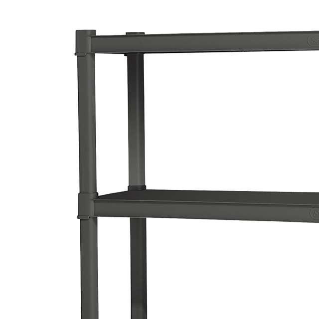 12 x 01643V01 Sterilite 4-Shelf Gray Shelving Unit, Flat Gray (12 Pack) 5