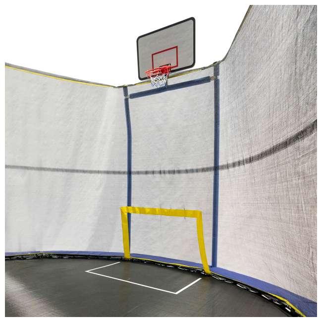 JK1015OVBHSG JumpKing JK1015OVBHSG 10 x 15 Foot Trampoline with Enclosure & Basketball Hoops 3