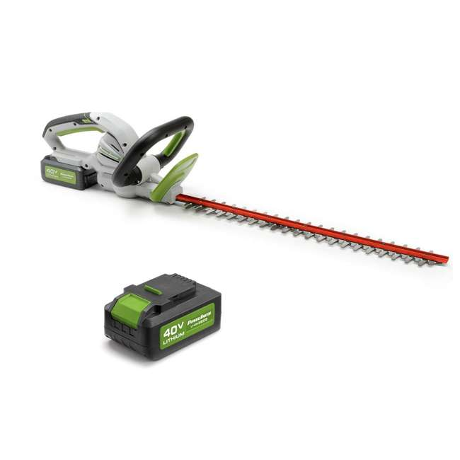 PHT140 + PLB14025 PowerSmith 40V Max Cordless Battery Powered Hedge Trimmer with Extra Battery