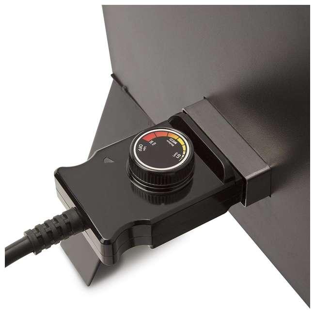 COS-330 Cuisinart 30 Inch 1500 Watt Portable Electric Smoker Grill w/ 2 Handles, Black 2