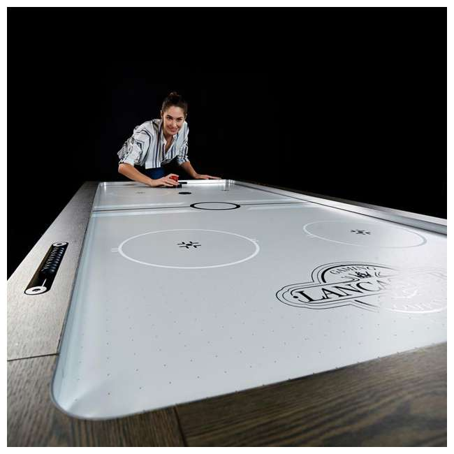 AWH084_108P-U-B Lancaster 84 Inch Air Powered Air Hockey Table with Game Accessories (Used) 1