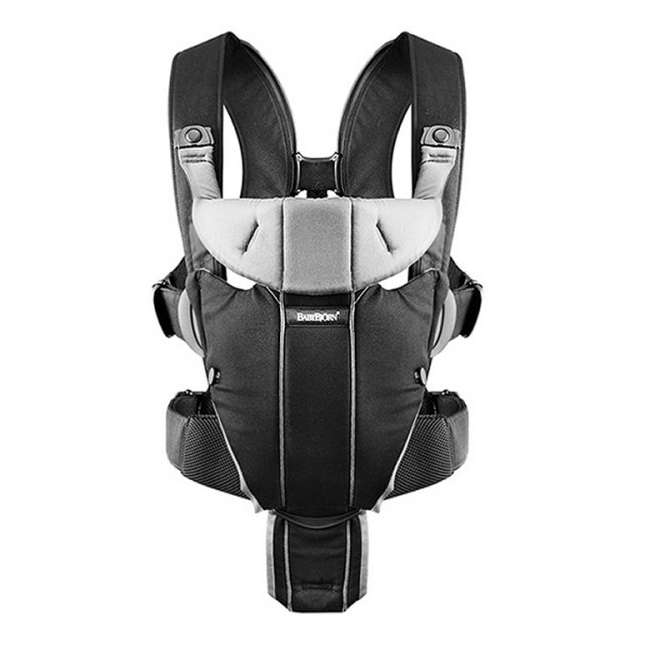 096065US BabyBjorn Baby Carrier Miracle - Black/Silver, Soft Cotton