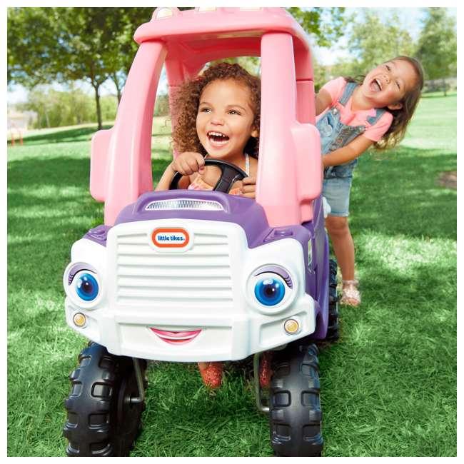642777M-U-A Little Tikes Pink and Purple Princess Cozy Kids Ride On Truck (Open Box) 1