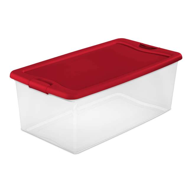 4 x 14996604 Sterilite 1499 106 Quart Latching Box Plastic Stackable Storage Container Bin (4 Pack) 1