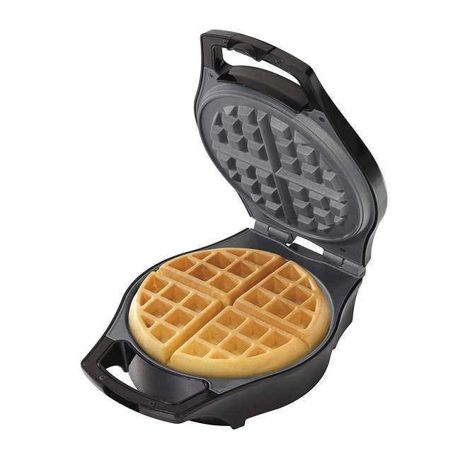 26042 Hamilton Beach 26042 Nonstick Mess Free Belgian Waffle Maker Iron w/ Measure Cup
