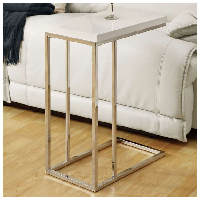 MS-VM3008-U-A Monarch Specialties Contemporary Accent End Table, White (Open Box) (2 Pack) 1