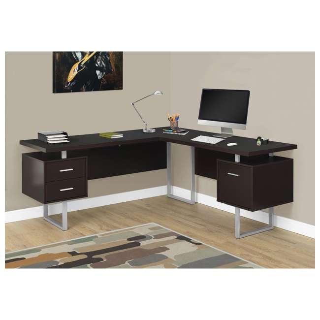 VM-7305-U-B Monarch Specialties 70 Inch Furniture Computer Desk, Cappuccino (Used) 1