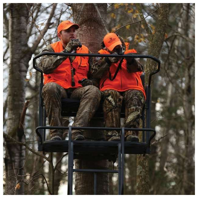 RE650 River's Edge RE650 Lockdown 21-Foot 2-Man Tree Ladder Stand (2 Pack) 3