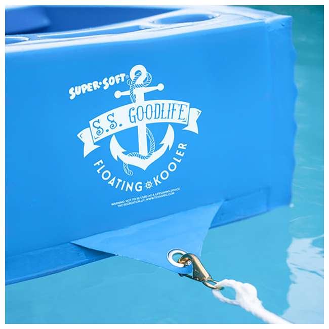 8841026 TRC Recreation Floating Super Soft Goodlife Drink Kooler for Pool/Hot Tub, Blue 1