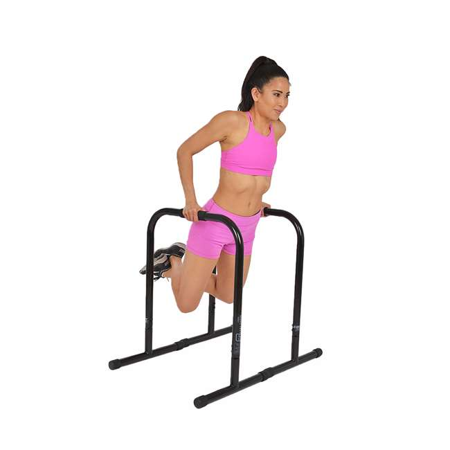 LFI-EQ-BLACK-XL Lebert Fitness Total Body Strengthener Stainless Steel Equalizers XL, Black 1