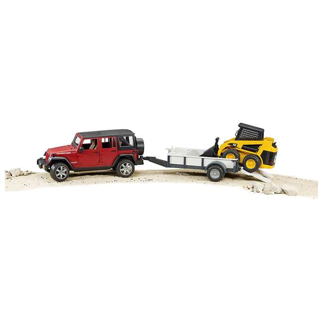 02925-BR Bruder Toys Jeep Wrangler Unlimited Rubicon with Cat Loader 5