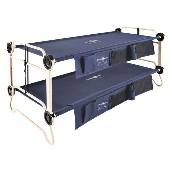 30602BO + 19813/GRN Disc-O-Bed XL Cam-O-Bunk Double Cot + 3 Shelf 6 Compartment Cabinet 1
