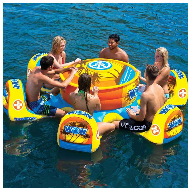 15-2010 WOW Watersports 15-2010 Octo Island 6 Person Pool Float with Cooler and Table 5