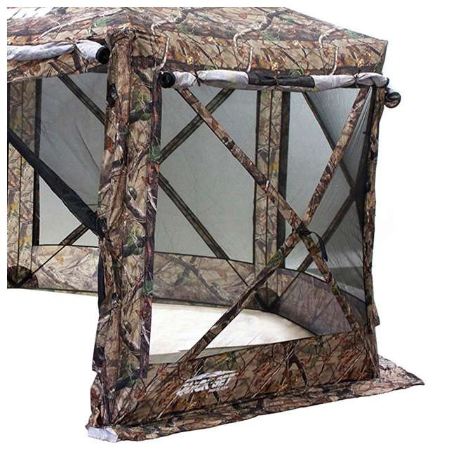 CLAM-PV-10810 + CLAM-PV-FLOOR-12878 Clam Quick Set Portable Shelter Screen w/ Clam Quick Set Covering Attachment 2