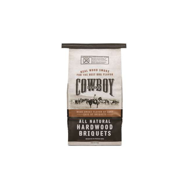 4 x 26014 Cowboy 14 LB All Natural Range Hardwood Charcoal Briquets for Grilling (4 Pack) 3