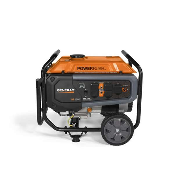 GNRC-76771 Generac GP Series 3600 Watt OHV Engine Portable Generator, Orange 2