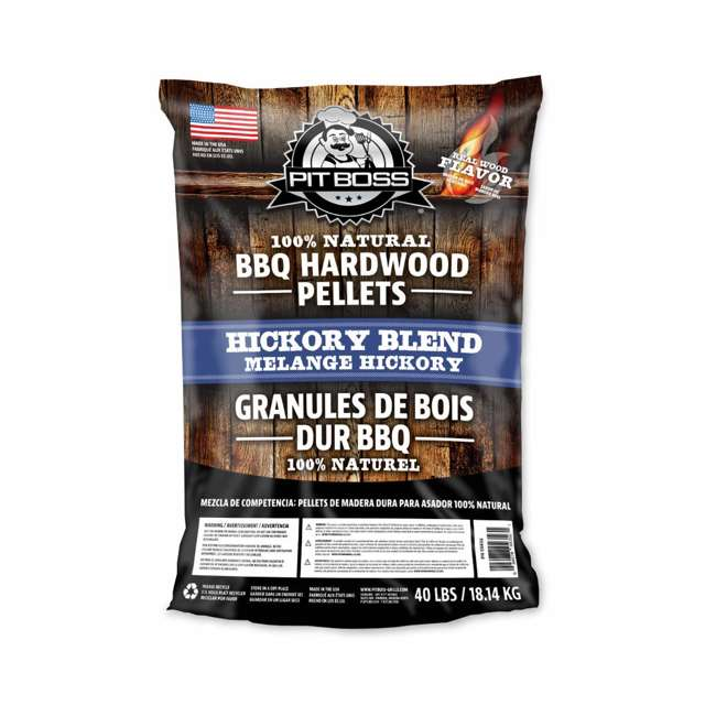 55436-U-B Pit Boss 40 Pound Package BBQ Wood Pellets for Pellet Grill, Hickory (Used)