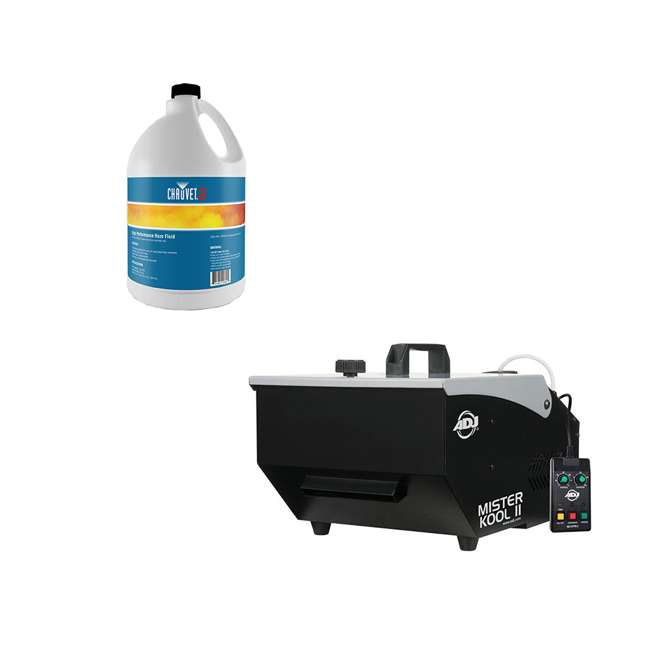 MISTER-KOOL-II American DJ Mister Kool II Water Based Fog Machine Chauvet DJ Hurricane Fog Machine Fluid, 1 Gallon