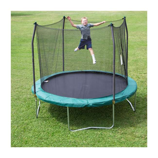 SWTC100G Skywalker Trampolines 10' Round Trampoline with Enclosure – Green 1