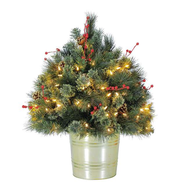 Potted Christmas Tree.Home Heritage 26 Inch Trumann Potted Christmas Tree