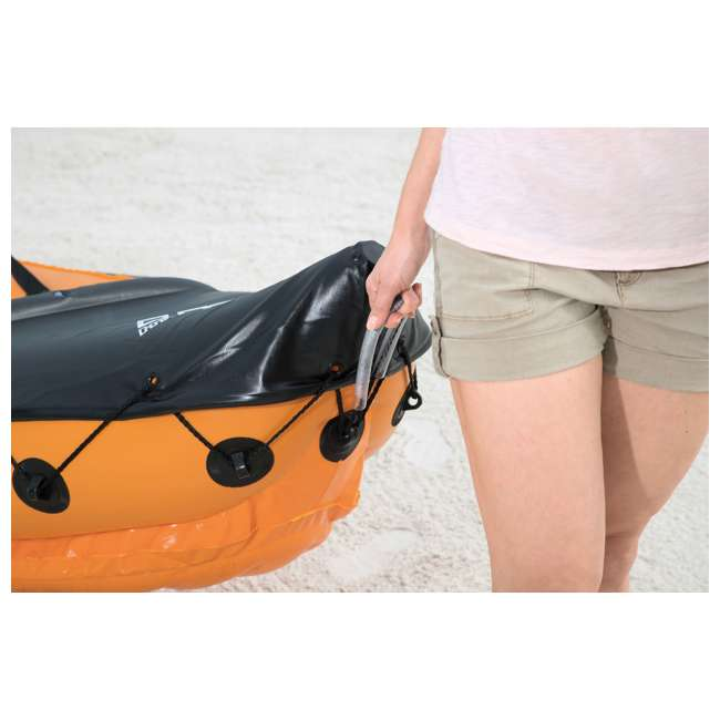 65077E-BW Bestway 126 x 35 Inches Lite-Rapid X2 Inflatable Kayak Float with Oars | 65077E 7