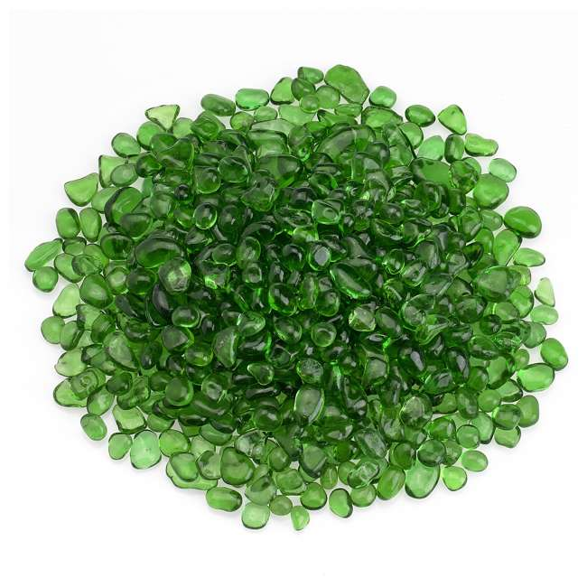 ECO-GRE-10 American Fireglass 1/4-Inch Fireplace and Fire Pit Eco Beads, 10LB, Jade Green