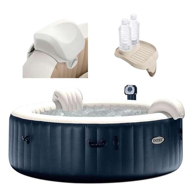28505E + 28409E + 28500E Intex 28409E Pure Spa 6-Person Hot Tub, Headrest And Cup Holder 1