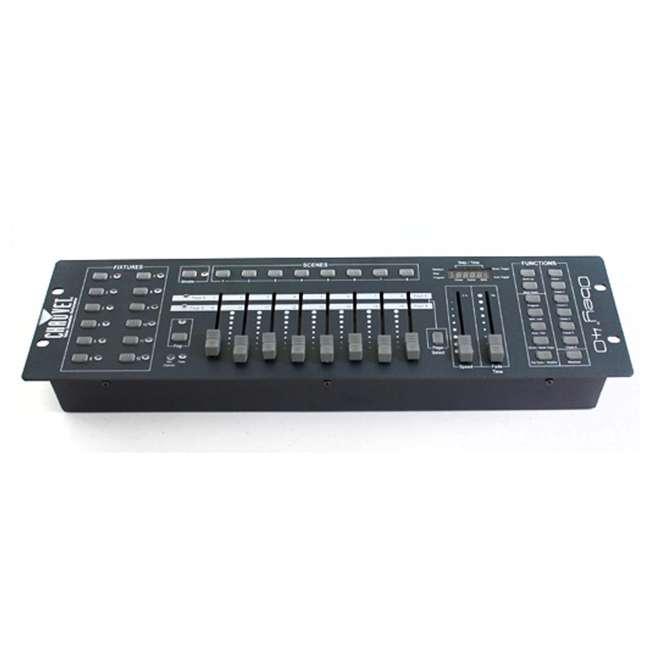 OBEY40 + DMX3P25FT + 3 x DMX3P10FT Chauvet OBEY40 Obey 40 DMX-512 Universal LED Light Controller w/ 10' & 25' Cables 1