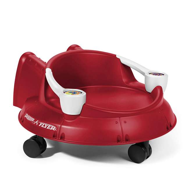 S635 Radio Flyer Spin N Saucer Toy for Ages 1 to 5, Red