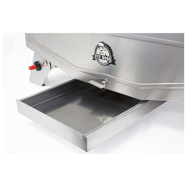 75275 Pit Boss Grills Stainless Steel Portable 2 Rack Propane Gas Grill, 1 Burner 6