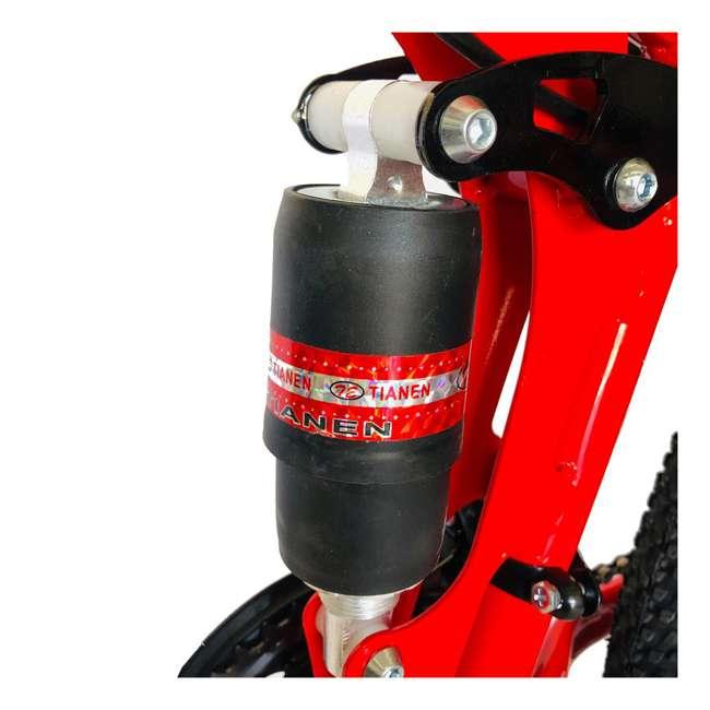 "MTB014-R NextGen 26"" 21 Speed Shimano Foldable Adult Hardtail Downhill Mountain Bike, Red 4"